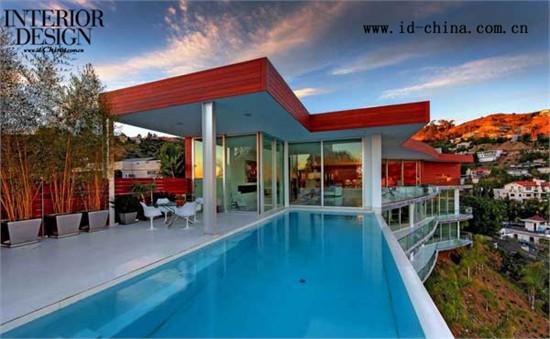 灵动奢华---俯瞰城市的好莱坞山脉私人住宅