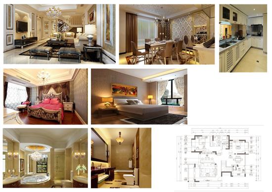 上海别墅装修案例-上海复式暖色调欧式设计方案