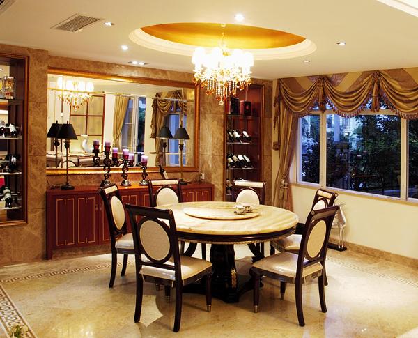 上海别墅装修-餐厅实景图