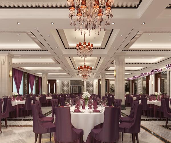 饭店装修设计宴会厅效果图