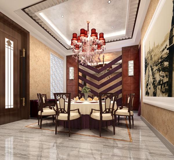 饭店装修设计小包房效果图