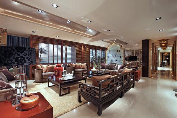 上海别墅装修-东南亚风格-入口实景图