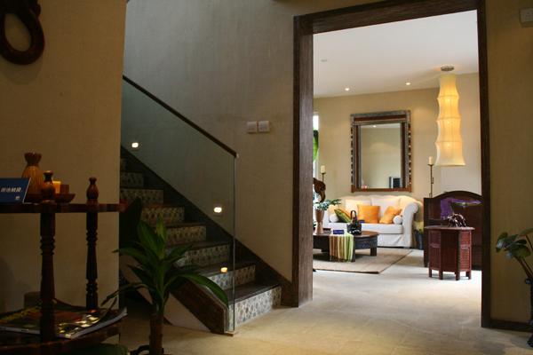 南亚风格别墅设计-入口实景效果图