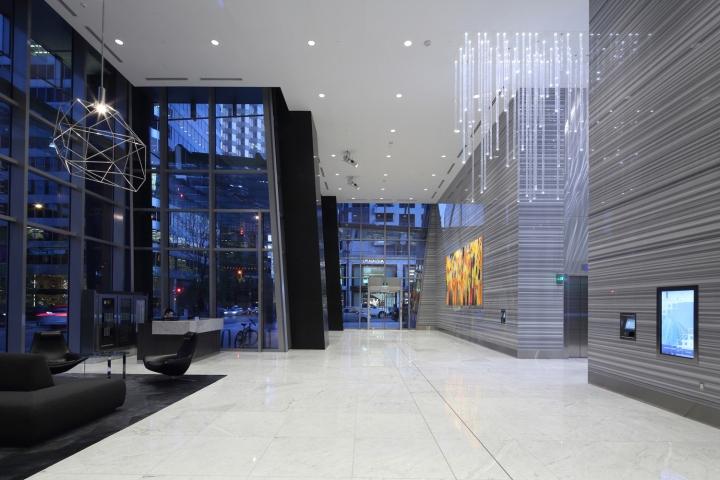 写字楼内公共空间装修效果图—电梯走道实景图2