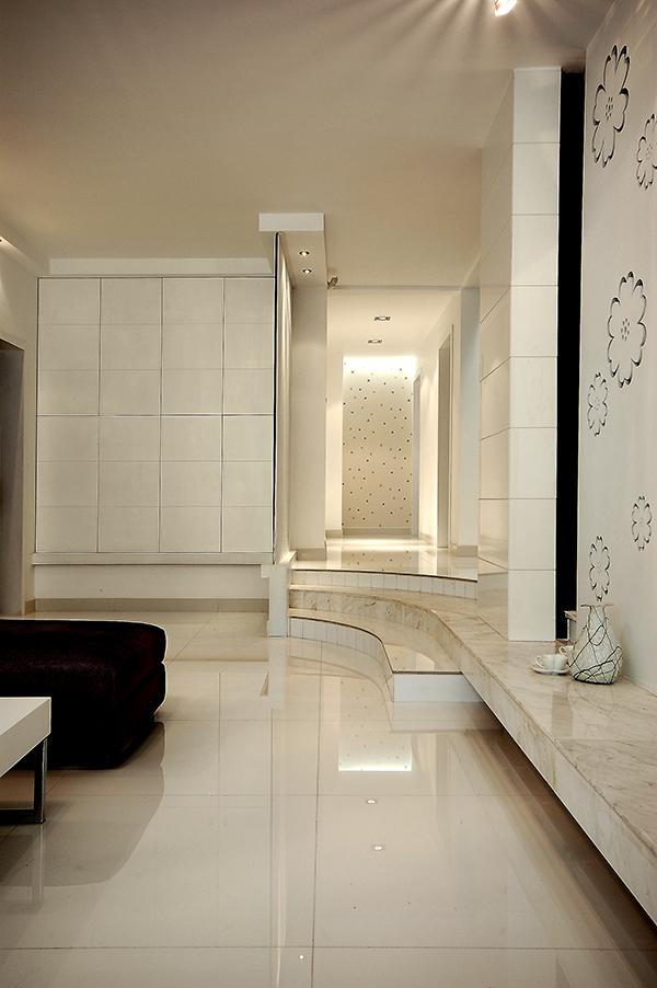 家装样板房装修设计-走道实景效果图