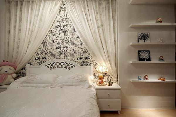 家装样板房装修设计-卧室实景效果图