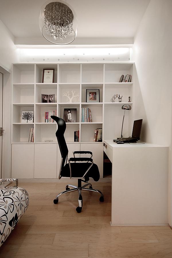 家装样板房装修设计-书房实景效果图